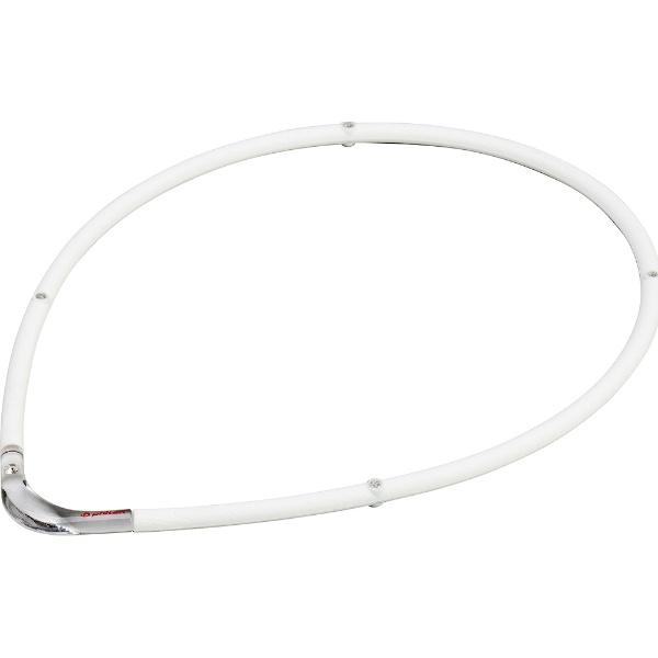 ファイテンPHITENRAKUWA磁気チタンネックレスS-II(ホワイト×クリア/55cm)0215TG677154