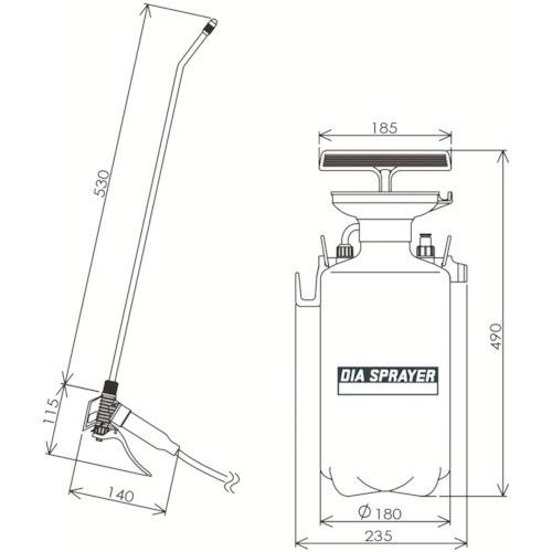 フルプラFURUPLAダイヤスプレープレッシャー式噴霧器5L剥離財用5501[5501]