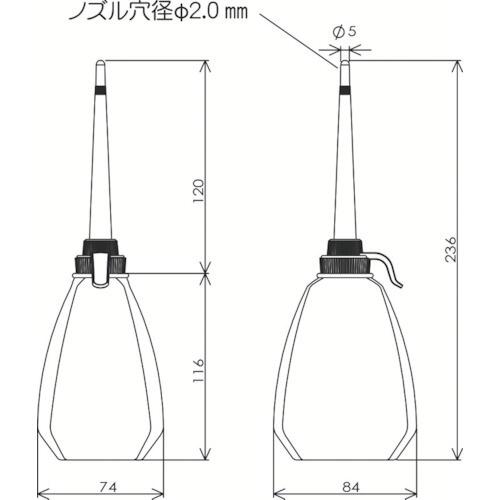 フルプラFURUPLAジェットオイラー角型グリーン300GN