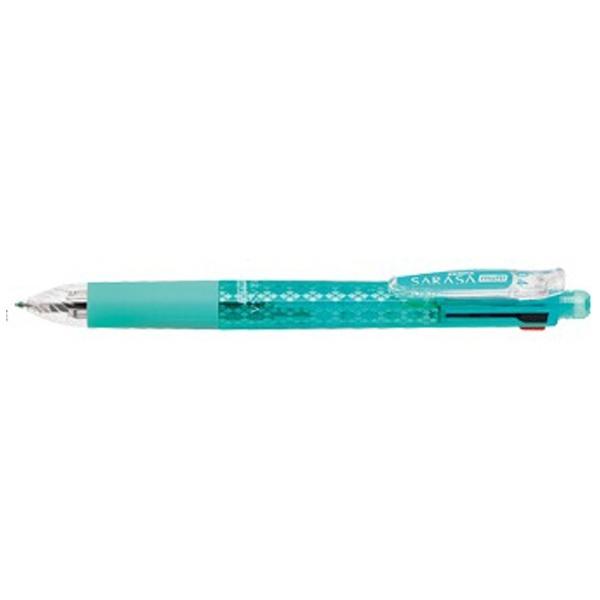 ゼブラZEBRA[多機能ジェルボールペン]サラサマルチ0.4ブルーグリーン(インキ色:黒・青・赤・緑+シャープ0.5)J4SAS11-BG