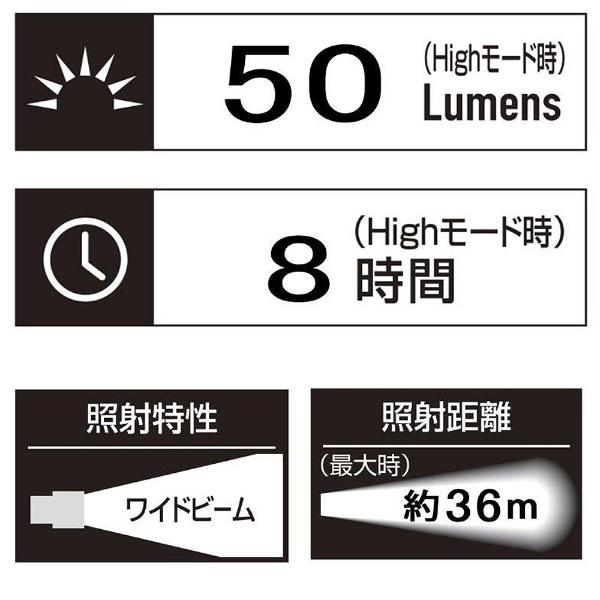 ジェントスGENTOSGD-002Dヘッドライト[LED/単3乾電池×1][GD002D]