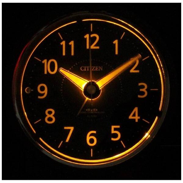 シチズンCITIZEN目覚まし時計【エフライトR435】茶4RL435-006[アナログ/電波自動受信機能有]