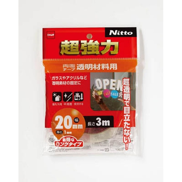ニトムズNitomsニトムズ超強力両面テープ透明材料用20×3T4613