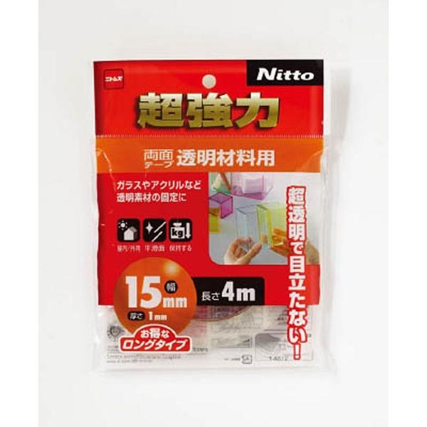 ニトムズNitomsニトムズ超強力両面テープ透明材料用15×4T4612