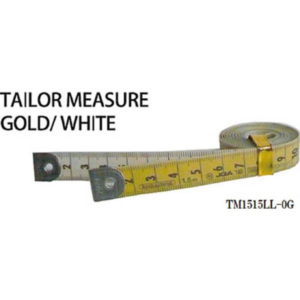 プロマートPROMARTプロマートテーラーメジャー1.5m0点白/ゴールドTM1515LL−0G
