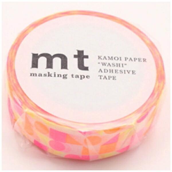 カモ井加工紙KAMOImt1Pマスキングテープ(まるさんかくしかく・ピンク)MT01D297