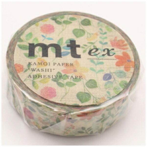 カモ井加工紙KAMOImtexマスキングテープ(水彩花柄)MTEX1P109