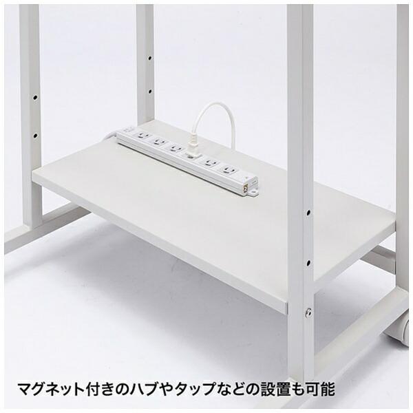 サンワサプライSANWASUPPLYパソコンラック(W600mm×D530mm・ホワイト)RAC-EC32[RACEC32]【メーカー直送・代金引換不可・時間指定・返品不可】