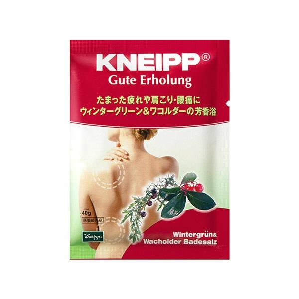 クナイプジャパンKneippJapanKNEIPP(クナイプ)グーテエアホールングバスソルトウィンターグリーン&ワコルダーの香り40g〔入浴剤〕