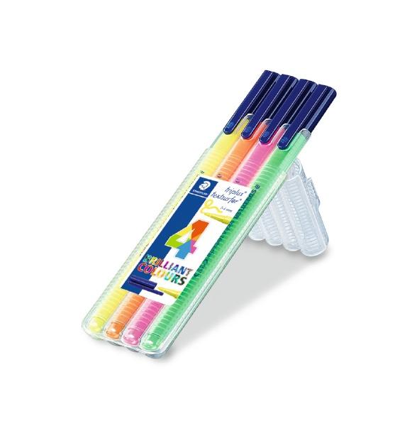 ステッドラー[水性マーカー]トリプラステキストサーファー・蛍光ペン4色セット362SB4