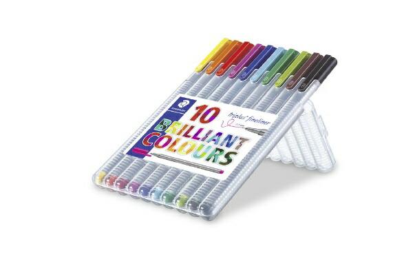 ステッドラーSTAEDTLER[水性マーカー]トリプラスファインライナー・細書きペン10色セット334SB10
