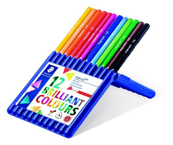 ステッドラーSTAEDTLER[色鉛筆]ステッドラーエルゴソフト色鉛筆12色セット157SB12