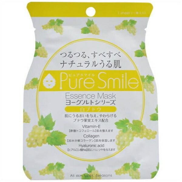 サンスマイルSunSmilePureSmile(ピュアスマイル)エッセンスマスクヨーグルトシリーズ白ブドウ1回分23ml