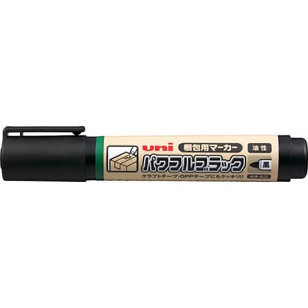 三菱鉛筆MITSUBISHIPENCIL梱包用マーカーパワフルブラックPTNMK24