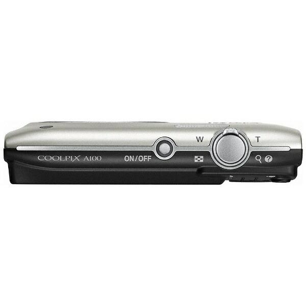 ニコンNikonA100コンパクトデジタルカメラCOOLPIX(クールピクス)シルバー[A100SL]