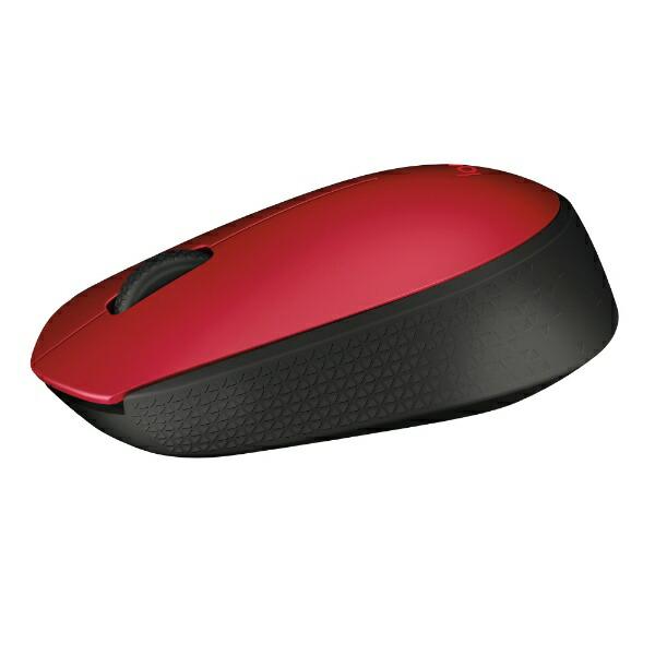 ロジクールLogicoolM171RDマウスレッド/ブラック[光学式/3ボタン/USB/無線(ワイヤレス)][M171RD]