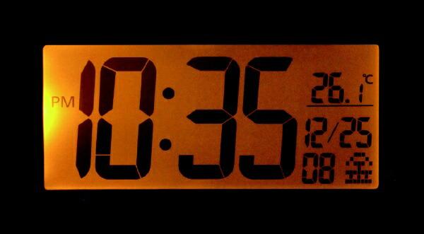 リズム時計RHYTHM目覚まし時計【フィットバトラージューク】8RZ177SR03[デジタル/電波自動受信機能有]