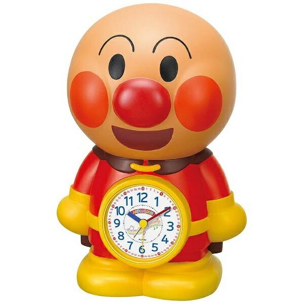 リズム時計RHYTHM目覚まし時計アンパンマンめざましとけい茶色(白)4SE552-M06[アナログ][4SE552M06]