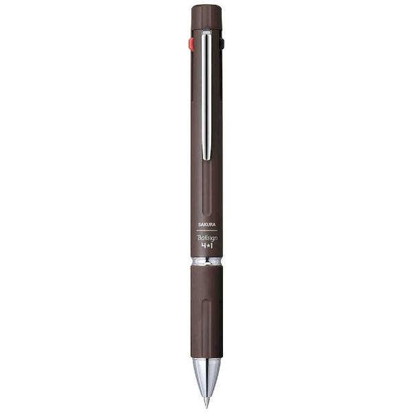 サクラクレパスSAKURACOLORPRODUCT[多機能ペン]Ballsign4*1ダークブラウン(ボール径:0.4mm+芯径0.5mm)?GB4M1004#17