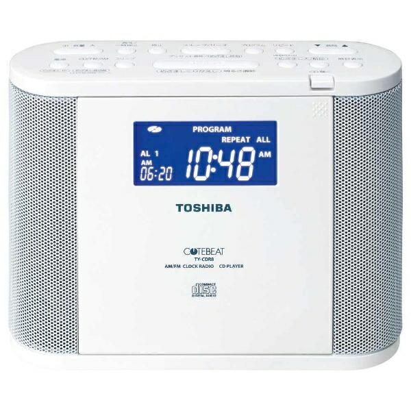 東芝TOSHIBATY-CDR8CDラジオホワイト[ワイドFM対応][TYCDR8]