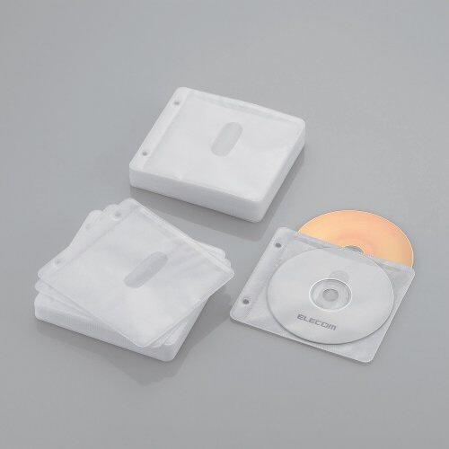 エレコムELECOMBlu-ray/CD/DVD対応不織布ケース2穴120枚収納ホワイトCCD-NBWB120WH[CCDNBWB120WH]【rb_pcp】