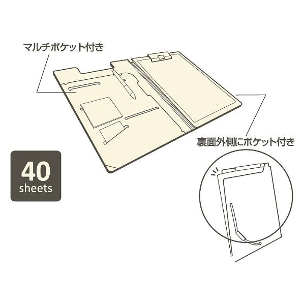 リヒトラブLIHITLAB.[ファイル]SMARTFITクリップファイル(色:ネイビー、サイズ:A4)F-7560-11