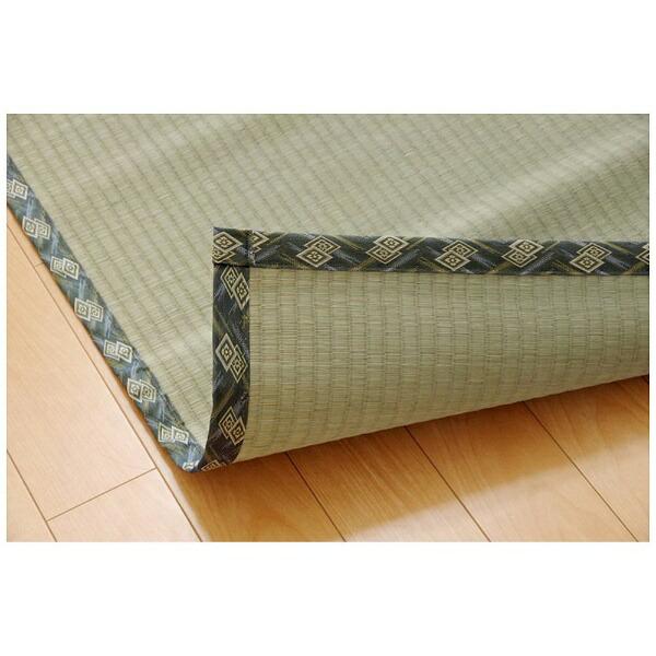 イケヒコIKEHIKOラグ減農薬栽培い草糸引織「西陣」(91×182cm/ナチュラル)