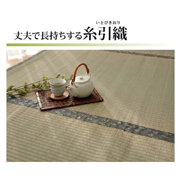 イケヒコIKEHIKOラグい草糸引織「湯沢」(176×176cm/ナチュラル)【日本製】