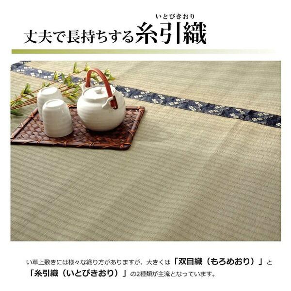 イケヒコIKEHIKOラグい草糸引織「立山」(176×261cm/ナチュラル)
