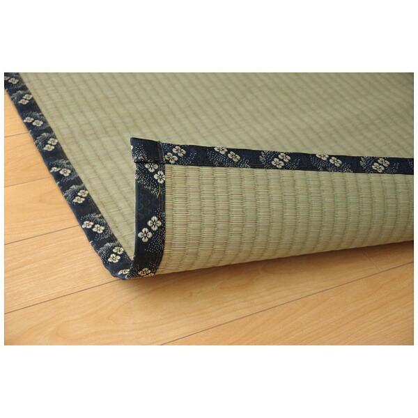 イケヒコIKEHIKOラグい草糸引織「梅花」(176×176cm/ナチュラル)【日本製】