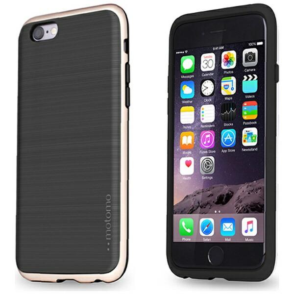 UIユーアイiPhone6s/6用INOLINEINFINITYSTONEBLACKゴールドINO-SBG[INOSBG]