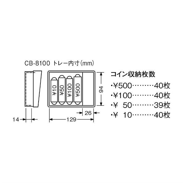 カール事務器CARLCB-8100-BキャッシュボックスMブルー[鍵式+ダイヤル式]