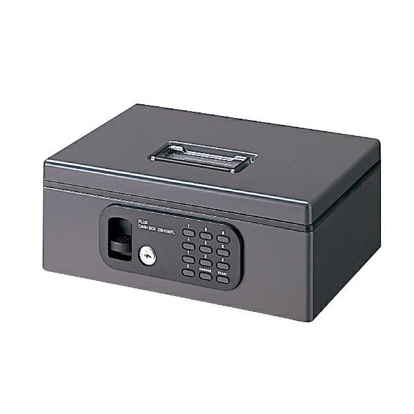 プラスPLUSCB-030FL-DGY手提金庫S12-845FL型ダークグレー[カード式+テンキー式]