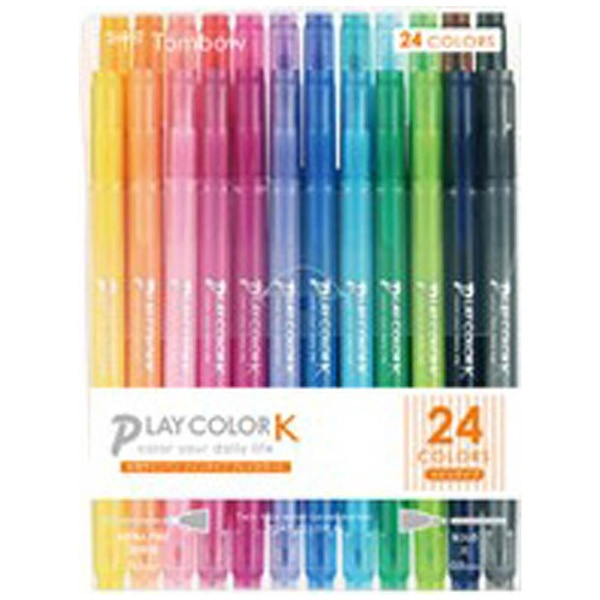 トンボ鉛筆Tombow[サインペン]プレイカラーK24色セットGCF-012