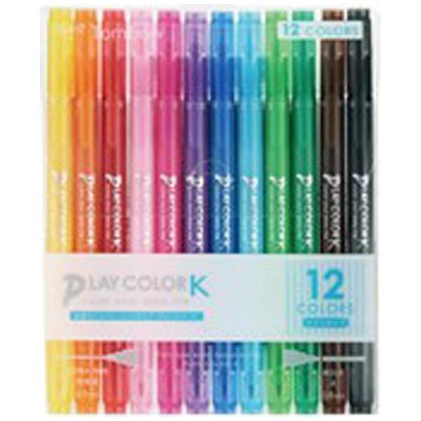 トンボ鉛筆Tombow[サインペン]プレイカラーK12色セットGCF-011