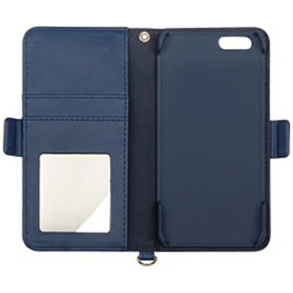 HAMEEハミィiPhone6s/6用手帳型trouverPlieダイアリーケースリボンネイビーブルーIP6STROUVERPLIEBL