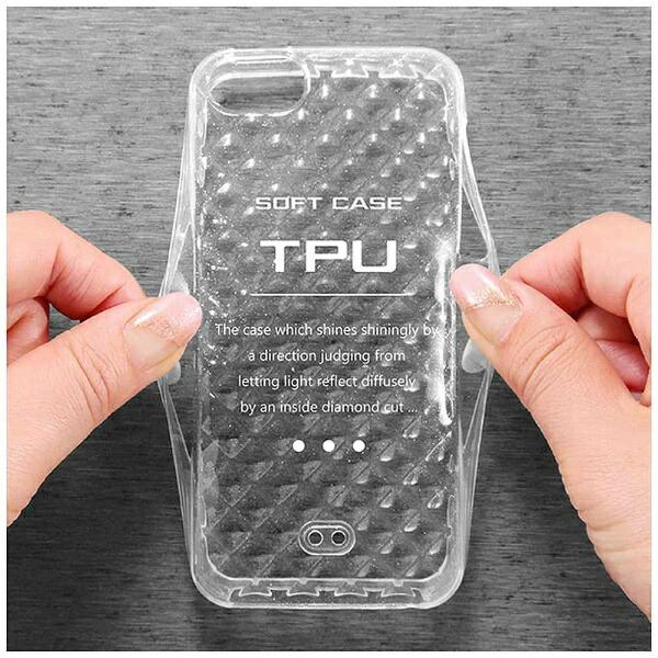 レイアウトrayoutiPhoneSE(第1世代)4インチ/5s/5用TPUソフトケースキラキラクリアRT-P11C7/Cストラップホール付