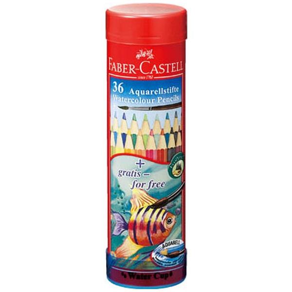 シヤチハタShachihata[水彩色鉛筆]ファーバーカステル水彩色鉛筆丸缶36色セットTFC-115936