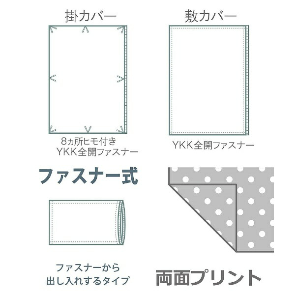小栗OGURI【掛ふとんカバー】カフェシングルサイズ(ポリエステル65%、綿35%/150×210cm/グリーン)