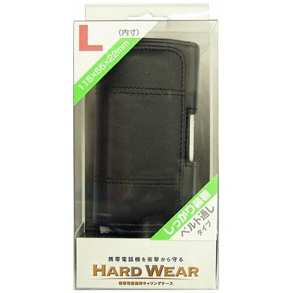 オズマOSMA携帯ケース/横型/縫い付けタイプL/黒