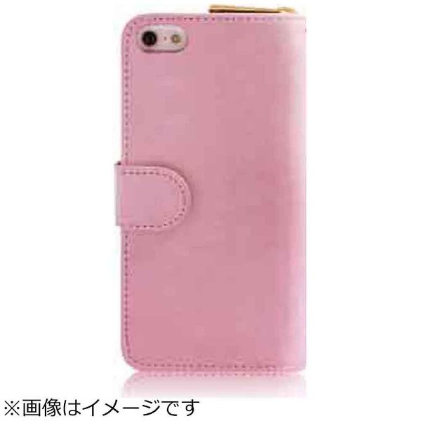 ROAロアiPhoneSE(第1世代)4インチ/5s/5用Zipperお財布付きダイアリーケースピンクdreamplusDP1581i5seポケット付+ハンドストラップ