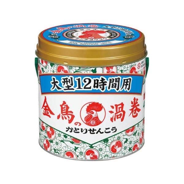 金鳥の渦巻大型12時間用40巻(缶)〔蚊取り線香〕大日本除虫菊KINCHO