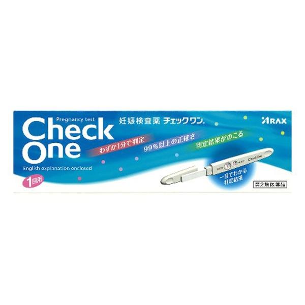 【第2類医薬品】チェックワン妊娠検査薬(1回用)〔検査薬〕【wtmedi】アラクスARAX