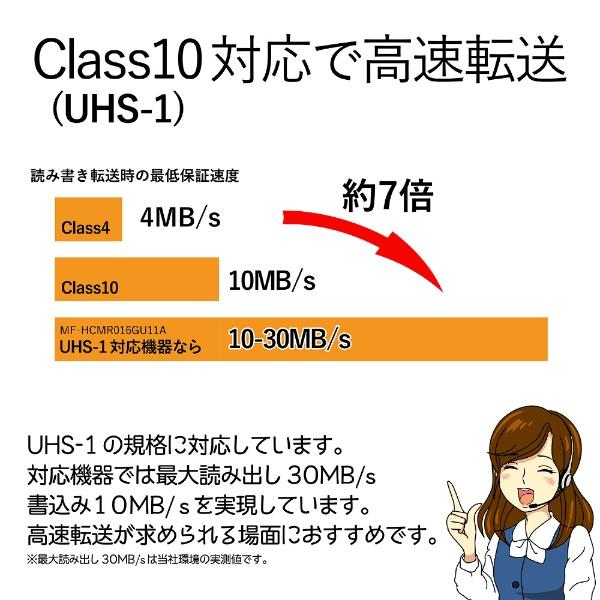 エレコムELECOMSDHCカードMF-BSDシリーズMF-BSD-016[16GB/Class10][MFBSD016]