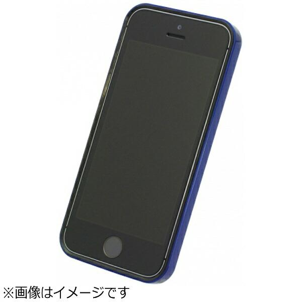 パワーサポートPOWERSUPPORTiPhoneSE(第1世代)4インチ/5s/5用フラットバンパーセットメタリックブルーPSE-43液晶保護フィルム・背面フィルム付