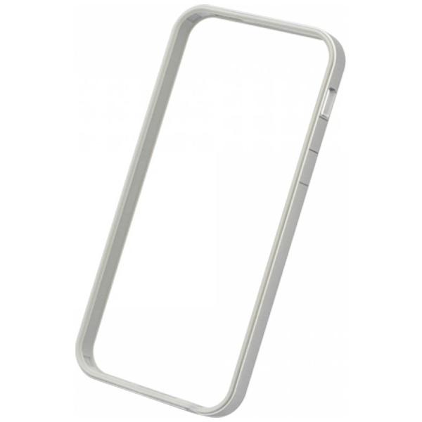 パワーサポートPOWERSUPPORTiPhoneSE(第1世代)4インチ/5s/5用フラットバンパーセットシルバー&ホワイトPSE-40液晶保護フィルム・背面フィルム付