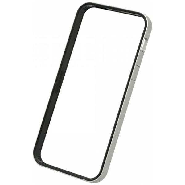 パワーサポートPOWERSUPPORTiPhoneSE(第1世代)4インチ/5s/5用フラットバンパーセットシルバー&ブラックPSE-45液晶保護フィルム・背面フィルム付