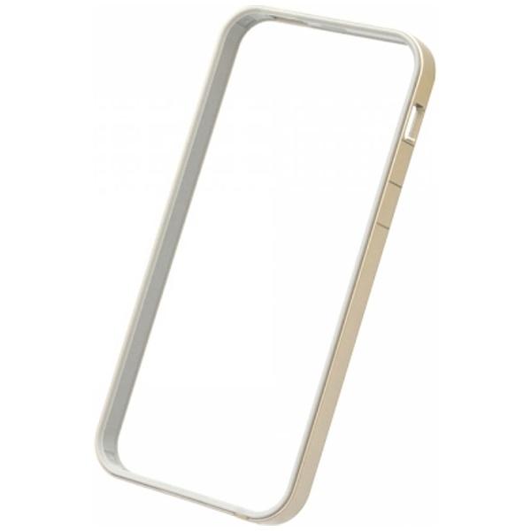 パワーサポートPOWERSUPPORTiPhoneSE(第1世代)4インチ/5s/5用フラットバンパーセットゴールドPSE-46液晶保護フィルム・背面フィルム付