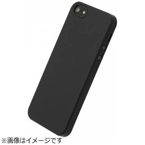 パワーサポートPOWERSUPPORTiPhoneSE(第1世代)4インチ/5s/5用エアージャケットラバーブラックPSE-72液晶保護フィルム付