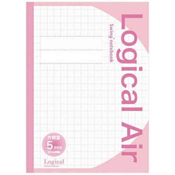 ナカバヤシNakabayashi[ノート]ナカバヤシロジカルエアー(軽量ノート)ピンク(B5・方眼5ミリ・10mm実線入)HB5-H502P